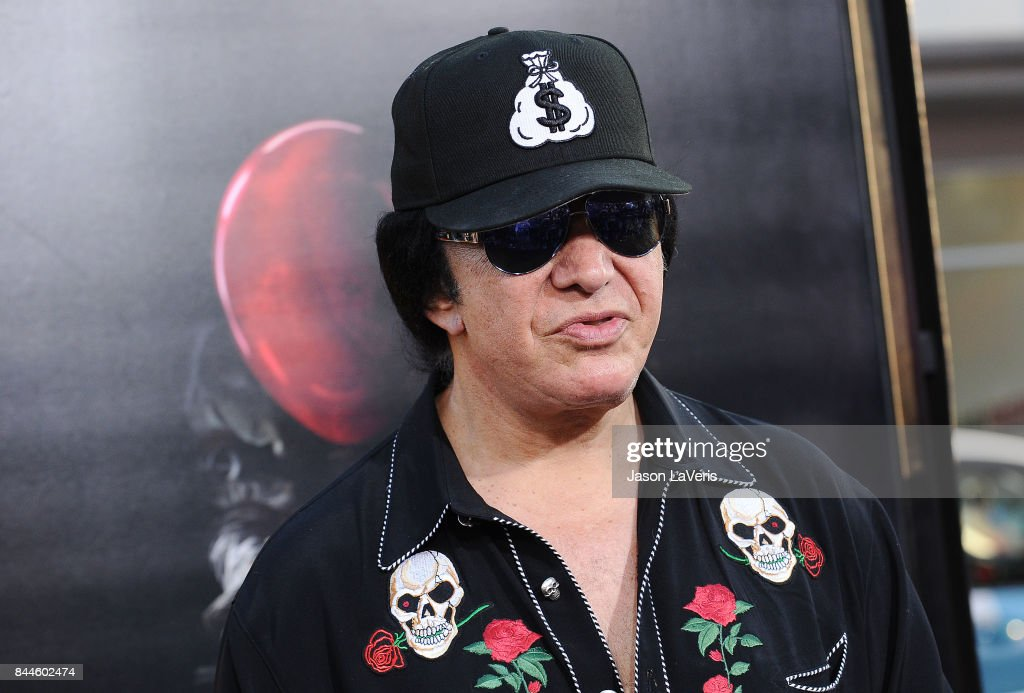 Musician Gene Simmons of the band KISS attends the premiere of 'It' at TCL Chinese Theatre on September 5, 2017 in Hollywood, California.