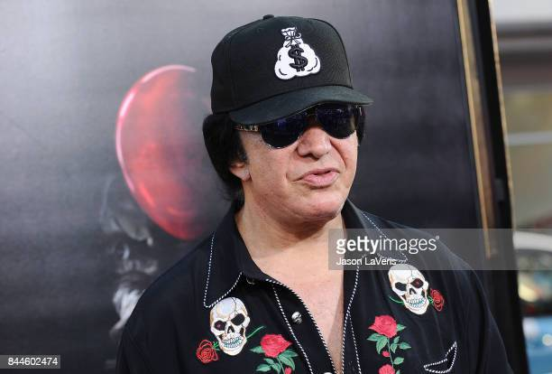 Musician Gene Simmons of the band KISS attends the premiere of 'It' at TCL Chinese Theatre on September 5 2017 in Hollywood California