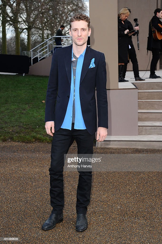 Musician George Barnett attends the Burberry Prorsum show during The London Collections: Men Autumn/Winter 2014 on January 8, 2014 in London, England.