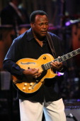 Musician George Benson on stage at The Thelonious Monk Institute of Jazz and The Recording Academy Los Angeles chapter honoring Herbie Hancock all...