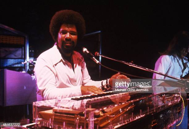 Musician George Duke performs onstage in circa 1984