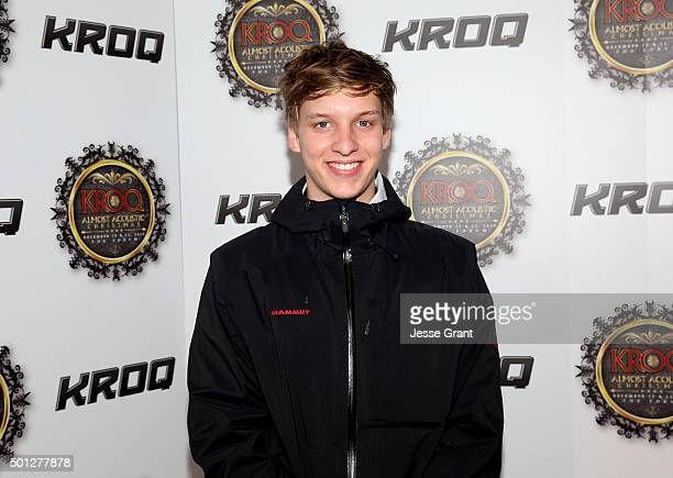 Musician George Ezra attends 1067 KROQ Almost Acoustic Christmas 2015 at The Forum on December 13 2015 in Los Angeles California