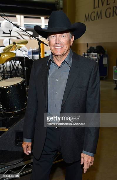 Musician George Strait attends the 48th Annual Academy of Country Music Awards at the MGM Grand Garden Arena on April 7 2013 in Las Vegas Nevada
