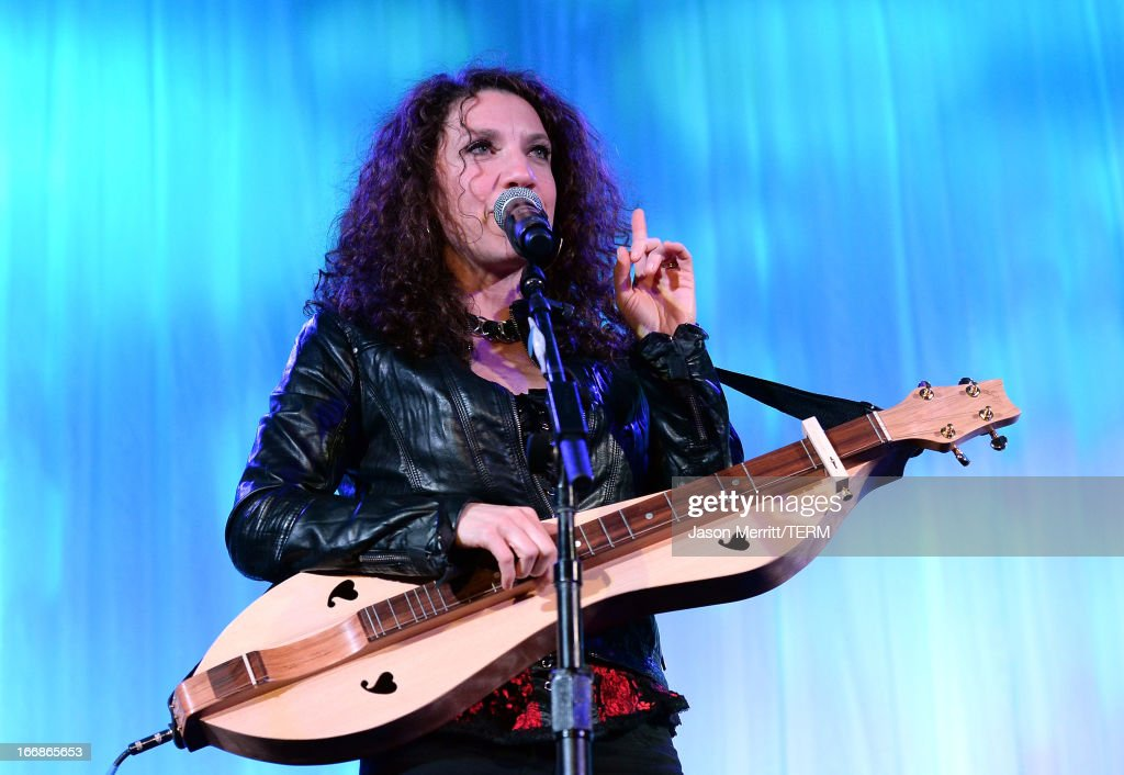 Musician Georgia Middleman of Blue Sky Riders performs onstage during The Kaleidoscope Ball - Designing The Future benefitting the UCLA Children's Discovery and Innovation Institute at Mattel Children's Hospital UCLA at Beverly Hills Hotel on April 17, 2013 in Beverly Hills, California.