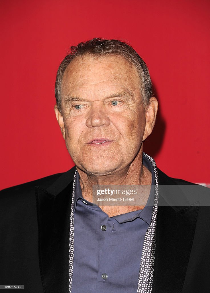 Musician <a gi-track='captionPersonalityLinkClicked' href=/galleries/search?phrase=Glen+Campbell&family=editorial&specificpeople=216545 ng-click='$event.stopPropagation()'>Glen Campbell</a> arrives at the 2012 MusiCares Person of the Year Tribute To Paul McCartney held at the Los Angeles Convention Center on February 10, 2012 in Los Angeles, California.