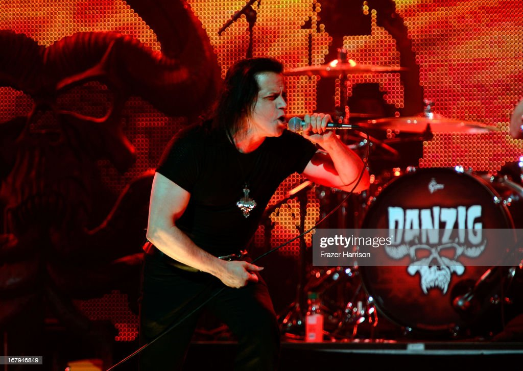 Musician Glenn Danzig performs at the 5th Annual Revolver Golden Gods Award Show at Club Nokia on May 2, 2013 in Los Angeles, California.
