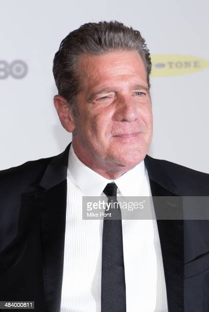 Musician Glenn Frey attends the 29th Annual Rock And Roll Hall Of Fame Induction Ceremony at Barclays Center on April 10 2014 in the Brooklyn borough...