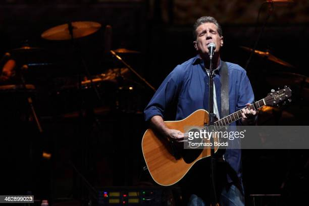 Musician Glenn Frey of The Eagles performs at the grand opening of the newly renovated Forum on January 15 2014 in Inglewood California