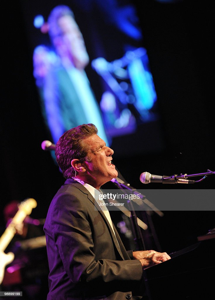 Musician <a gi-track='captionPersonalityLinkClicked' href=/galleries/search?phrase=Glenn+Frey&family=editorial&specificpeople=223995 ng-click='$event.stopPropagation()'>Glenn Frey</a> of the Eagles performs at the Lupus LA Orange Ball on May 6, 2010 in Beverly Hills, California.