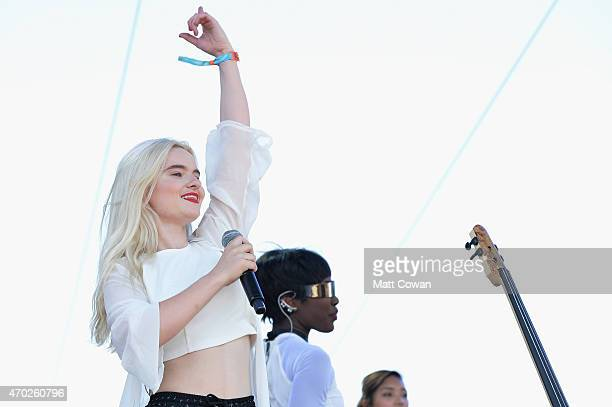 Musician Grace Chatto of Clean Bandit performs onstage during day 2 of the 2015 Coachella Valley Music And Arts Festival at The Empire Polo Club on...