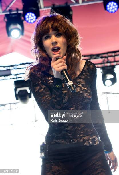 Musician Grace Mitchell performs onstage at the Gobi Tent during Coachella Valley Music And Arts Festival at Empire Polo Club on April 16 2017 in...