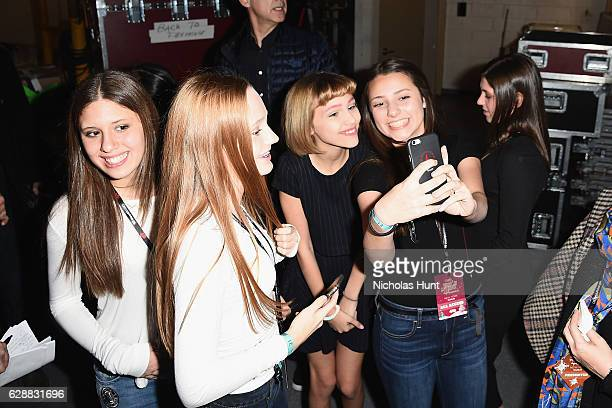 Musician Grace VanderWaal greets fans at Z100's Jingle Ball 2016 at Madison Square Garden on December 9 2016 in New York City