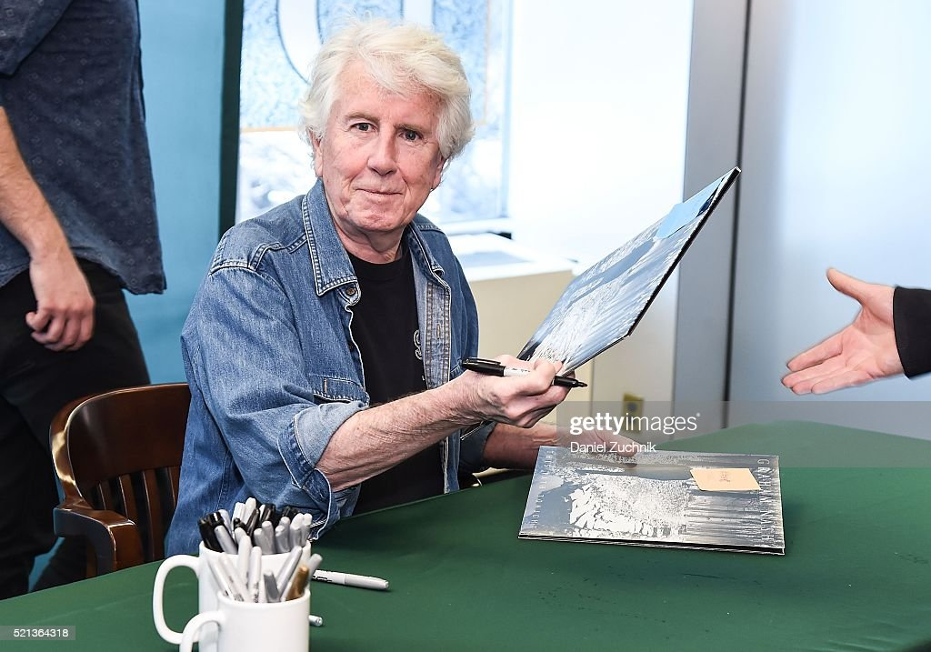Musician Graham Nash signs copies of his new album 'The Path Tonight' at Barnes & Noble Citigroup Center on April 15, 2016 in New York City.