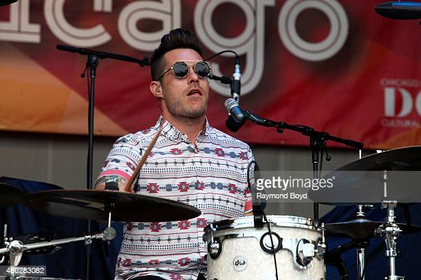 Musician Greg Erwin from Saint Motel performs at the Petrillo Music Shell during the 35th Annual 'Taste Of Chicago' on July 08 2015 in Chicago...