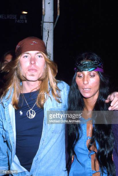 Musician Gregg Allman and Cher attend an event in March 1979