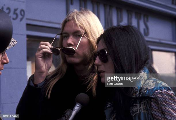 Musician Gregg Allman and singer Cher on January 21 1977 shop on Wisconsin Avenue in Washington DC