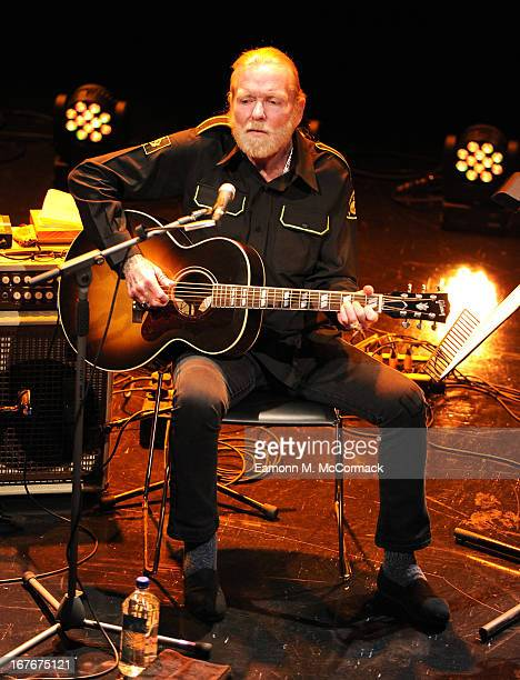 Musician Gregg Allman performs at A Celebration of Muscle Shoals during the Sundance London Film And Music Festival 2013 at Indigo at O2 Arena on...