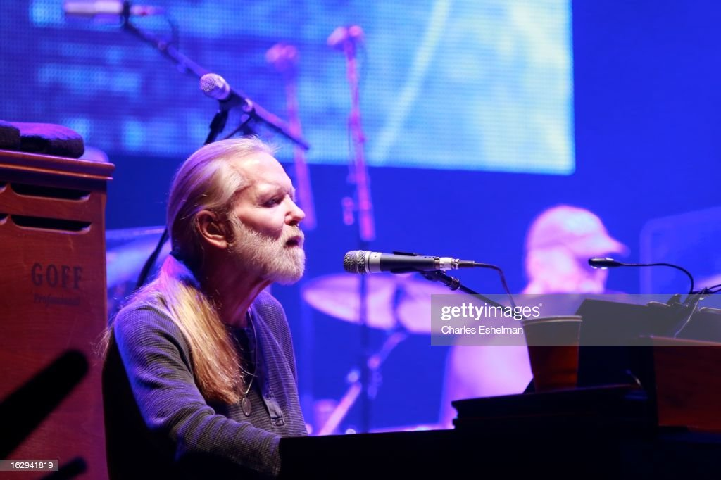Musician Gregg Allman performs at Beacon Theatre on March 1, 2013 in New York City.