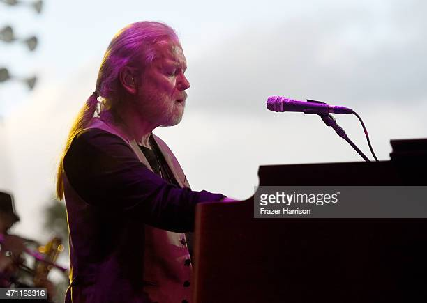Musician Gregg Allman performs onstage during day two of 2015 Stagecoach California's Country Music Festival at The Empire Polo Club on April 25 2015...