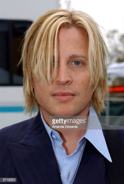 Musician Gunnar Nelson stands backstage as he attends the Love Ride 20 at HarleyDavidson/Buell of Glendale November 9 2003 in Glendale California The...