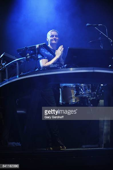Musician Guy Lawrence of the band Disclosure performs on stage during the 2nd Annual Wild Life Festival at Forest Hills Stadium on June 18 2016 in...