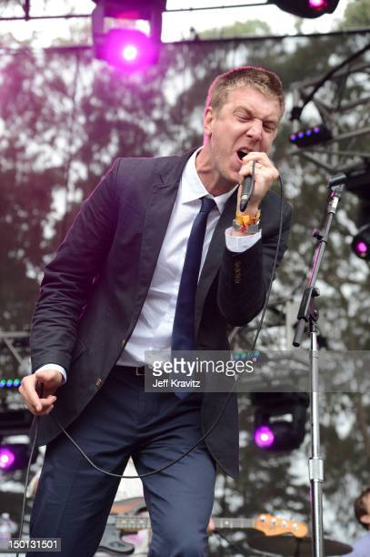 Musician Hamilton Leithauser of the band The Walkmen performs at the Sutro Stage during day 1 of the 2012 Outside Lands Music and Arts Festival at...