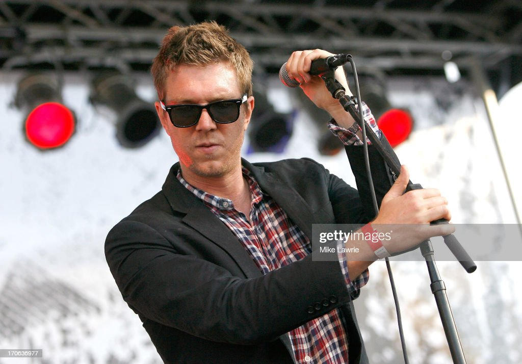 Musician Hamilton Leithauser of The Walkmen performs during the 2013 Northside Festival at McCarren Park on June 15, 2013 in the Brooklyn borough of New York City.