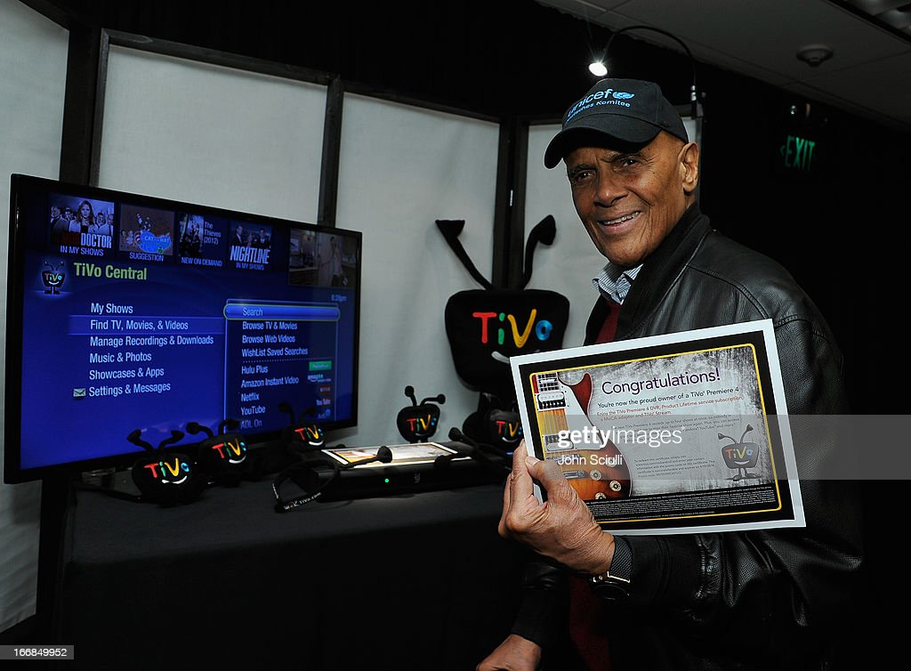 Musician Harry Belafonte attends the Gift Lounge at the 28th Rock and Roll Hall of Fame Induction Ceremony presented by I Can't Believe It's Not Butter! 'Breakfast After Dark' produced by On 3 Productions at Nokia Theatre L.A. Live on April 17, 2013 in Los Angeles, California.