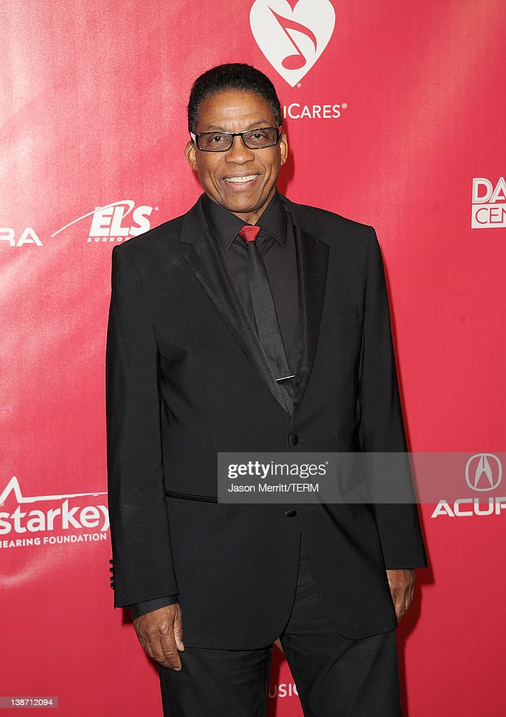 Musician <a gi-track='captionPersonalityLinkClicked' href=/galleries/search?phrase=Herbie+Hancock&family=editorial&specificpeople=214131 ng-click='$event.stopPropagation()'>Herbie Hancock</a> arrives at the 2012 MusiCares Person of the Year Tribute To Paul McCartney held at the Los Angeles Convention Center on February 10, 2012 in Los Angeles, California.