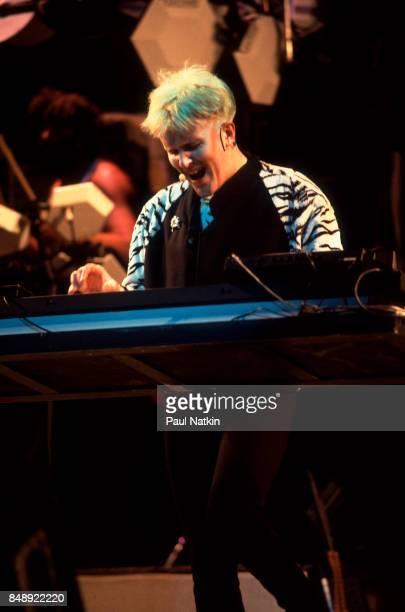 Musician Howard Jones performs at the Poplar Creek Music Theater in Hoffman Estates Illinois June 4 1987