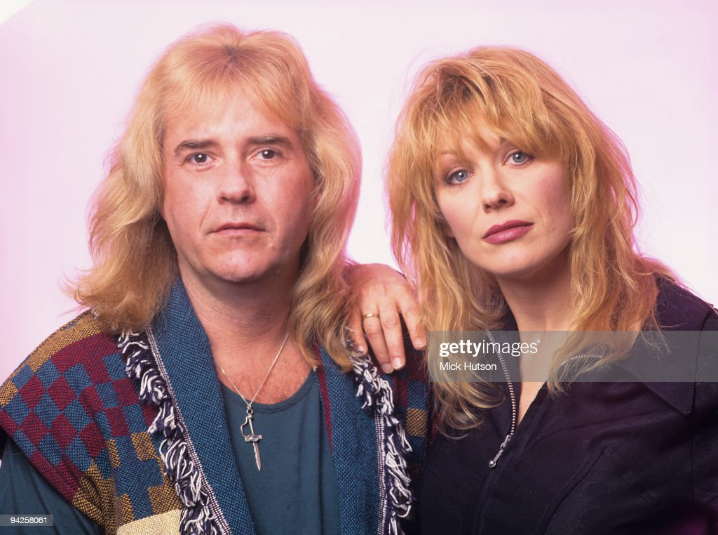 Musician Howard Leese and singer Nancy Wilson of American rock band Heart in the early 1990's