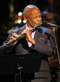 Musician Hubert Laws on stage at The Thelonious Monk Institute of Jazz and The Recording Academy Los Angeles chapter honoring Herbie Hancock all star...