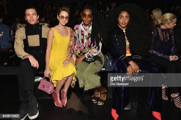 Musician Ian Mellencamp Jazmin Grimaldi Bloggers Cipriana and TK Quann attend Desigual fashion show during New York Fashion Week The Shows at Gallery...