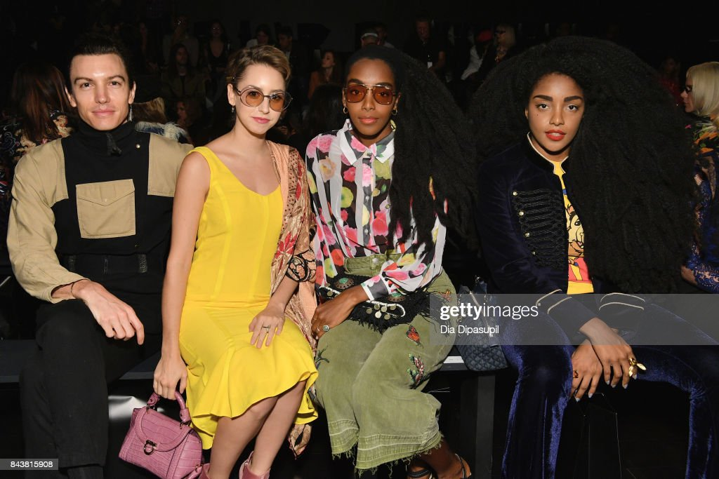 Musician Ian Mellencamp, Jazmin Grimaldi, Bloggers Cipriana and TK Quann attend Desigual fashion show during New York Fashion Week: The Shows at Gallery 1, Skylight Clarkson Sq on September 7, 2017 in New York City.