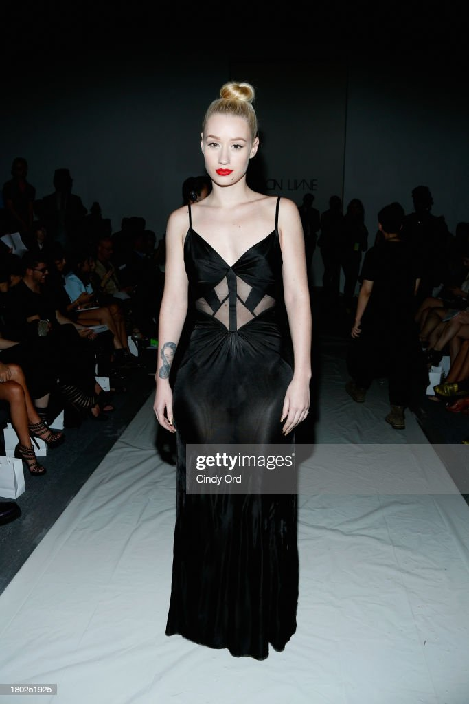 Musician <a gi-track='captionPersonalityLinkClicked' href=/galleries/search?phrase=Iggy+Azalea&family=editorial&specificpeople=8558263 ng-click='$event.stopPropagation()'>Iggy Azalea</a> attends the Alon Livne fashion show during Mercedes-Benz Fashion Week Spring 2014 at The Studio at Lincoln Center on September 10, 2013 in New York City.