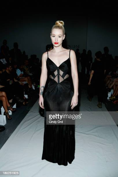 Musician Iggy Azalea attends the Alon Livne fashion show during MercedesBenz Fashion Week Spring 2014 at The Studio at Lincoln Center on September 10...