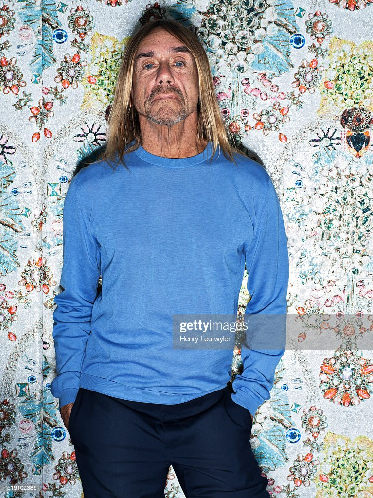 Musician <a gi-track='captionPersonalityLinkClicked' href=/galleries/search?phrase=Iggy+Pop&family=editorial&specificpeople=171445 ng-click='$event.stopPropagation()'>Iggy Pop</a> is photographed for Telerama on February 23, 2016, in New York City.