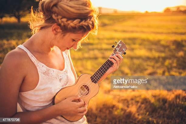 Musician in the nature