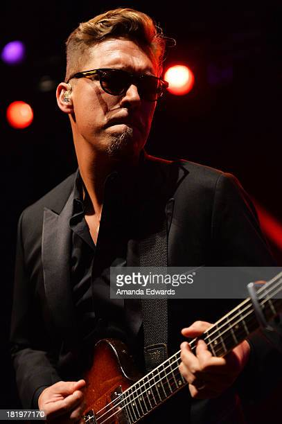 Musician Isaac Hanson of the band Hanson performs onstage at the House of Blues Sunset Strip on September 26 2013 in West Hollywood California