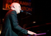 Musician Issac Slade of The Fray performs at the Music Preservation Project 'Cue The Music' held at the Wilshire Ebell Theatre on January 28 2010 in...
