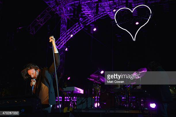 Musician J Tillman of Father John Misty performs onstage during day 2 of the 2015 Coachella Valley Music And Arts Festival at The Empire Polo Club on...