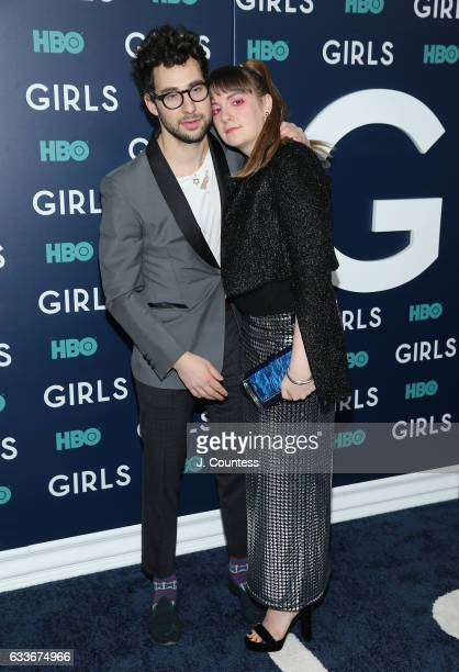 Musician Jack Antonoff and actress Lena Dunham attend The New York Premiere Of The Sixth Final Season Of 'Girls' at Alice Tully Hall Lincoln Center...