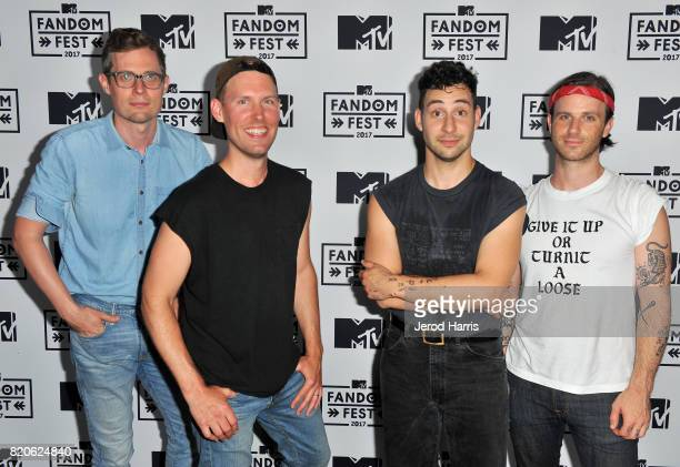 Musician Jack Antonoff and fellow members of Bleachers attend MTV Fandom Fest at PETCO Park on July 21 2017 in San Diego California