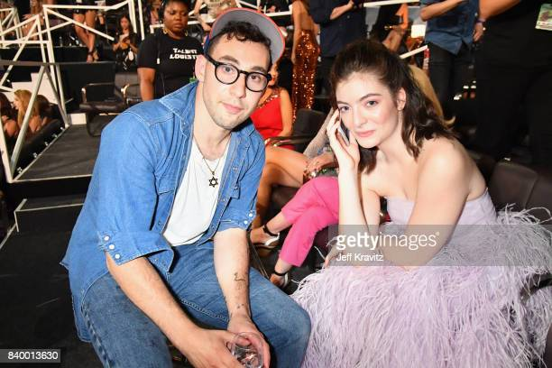 Musician Jack Antonoff and Lorde attend the 2017 MTV Video Music Awards at The Forum on August 27 2017 in Inglewood California