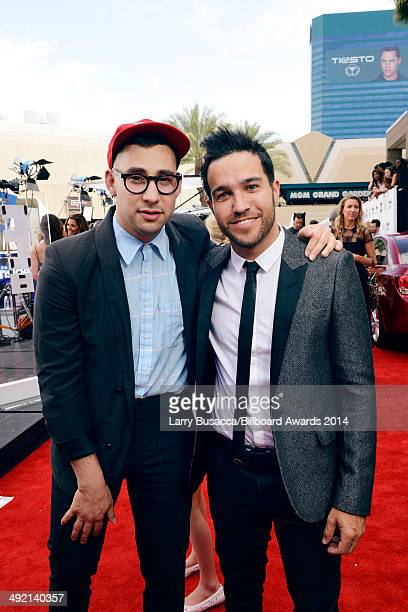 Musician Jack Antonoff of Bleachers and Pete Wentz of Fall Out Boy attend the 2014 Billboard Music Awards at the MGM Grand Garden Arena on May 18...