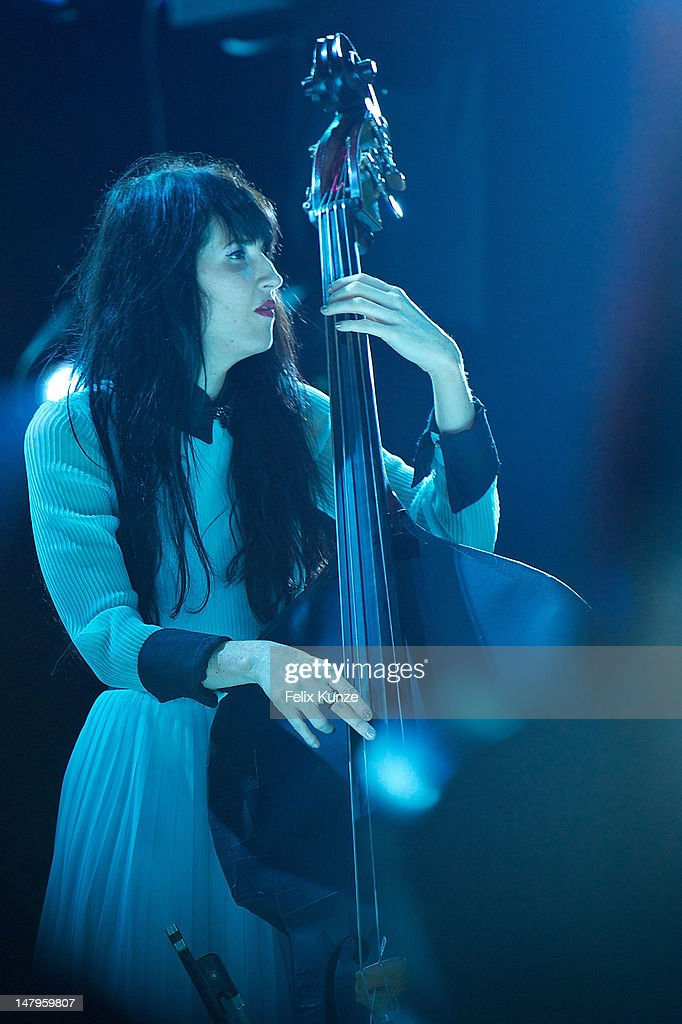 US musician Jack White and his band perform on stage during Roskilde Festival 2012 on July 6, 2012 in Roskilde, Denmark.