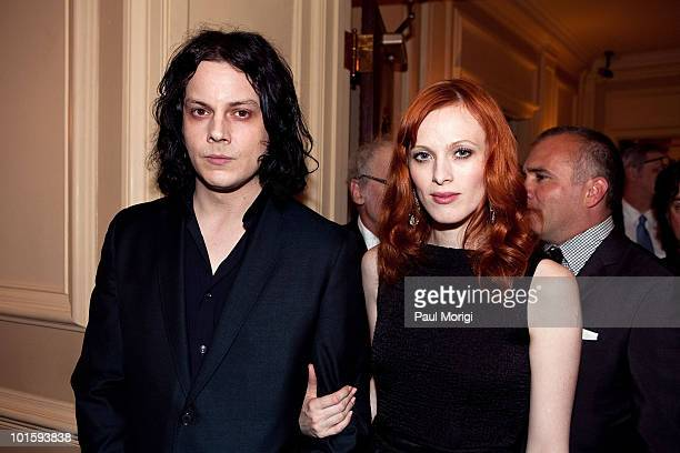 Musician Jack White and model Karen Elson attend The Library of Congress' Third Gershwin Prize for Popular Song celebrating the music of Paul...