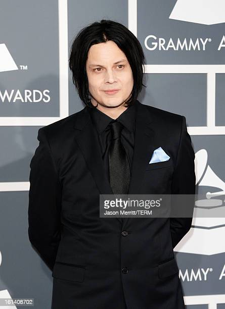 Musician Jack White arrives at the 55th Annual GRAMMY Awards at Staples Center on February 10 2013 in Los Angeles California