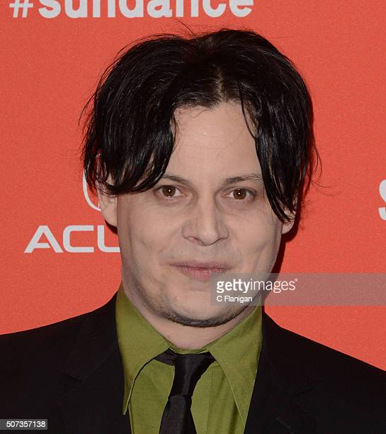 Musician Jack White attends the 'American Epic' Premiere during the 2016 Sundance Film Festival at Eccles Center Theatre on January 28 2016 in Park...