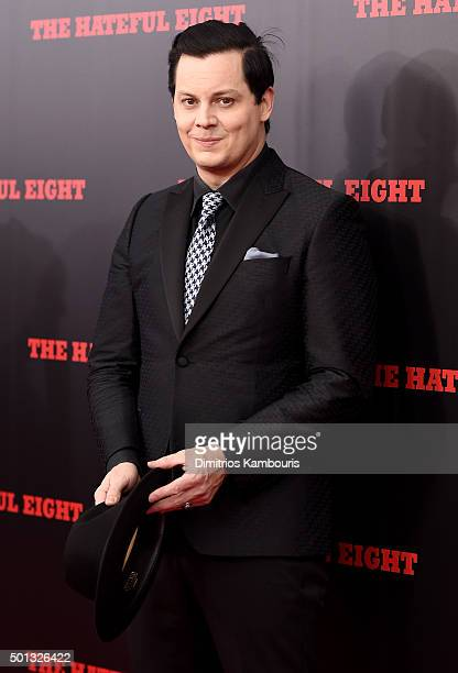 Musician Jack White attends the New York premiere of 'The Hateful Eight' on December 14 2015 in New York City